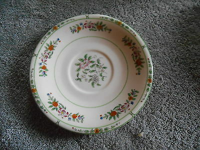 Vintage - Coxon Belleek Saucer - Flower Pattern