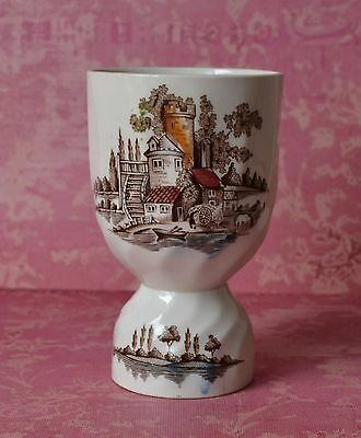 DOUBLE EGG CUP Johnson Brothers THE OLD MILL - Brown Multicolor