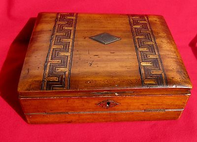 ANTIQUE VICTORIAN Portable Travel SLOPED WRITING BOX/LAP DESK