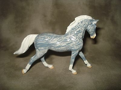 Breyer CM Glossy Decorator Blue Marbled Cantering Warmblood Stablemate