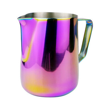 Stainless Steel Milk Frothing Jug in 350ml Coffee Latte Cafe DIY Colorful