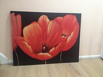 canvas flowers  /huge /