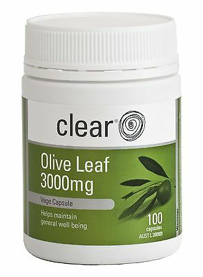 Clear Olive Leaf 3000mg - Immunity and heart health - Relief mild fevers