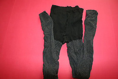 NWOT SIMPLY VERA woman's stretch pantyhose.Black/charcoal braided knit.Size 3.