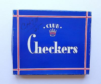 VTG Wooden Crown Checkers in Original Box, The Embossing Co USA Great Condition!
