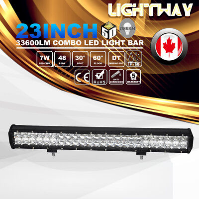 23inch Osram 336W 5D Led Spot Flood Work Light Bar Offroad 4WD Truck SUV Lamp
