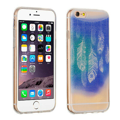Transparent Crystal Clear Hard TPU Case Cover For Apple iPhone 6 / 6S 4.7'' Blue