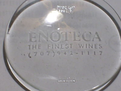 Enoteca  Wine Shop Napa Valley California Promotional Pyrex Small Dish England