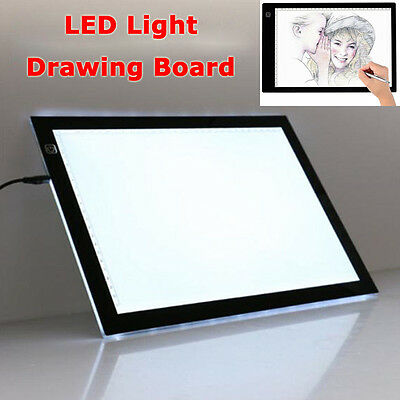 A3 LED Ultra Slim Art Craft Design Tracing Photo Drawing Tattoo Light Box Pad AU
