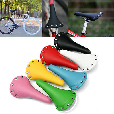 Bicycle Saddle Riveted Stud Vintage Seat Soft Cushion Pad MTB Road Mountain Bike
