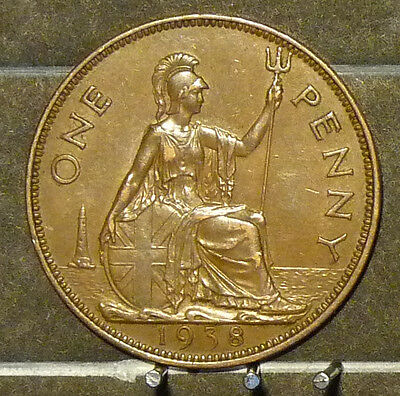 1938 Great Britain Large Penny  Coin     F130