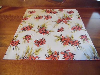 Vintage Hallmark Berries Gift Wrap Wrapping Paper