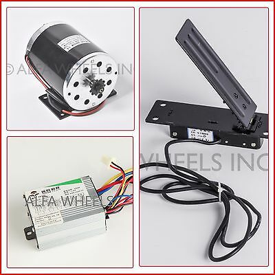 500 W 36 V DC electric 1020 motor kit w base speed control & Foot Pedal Throttle