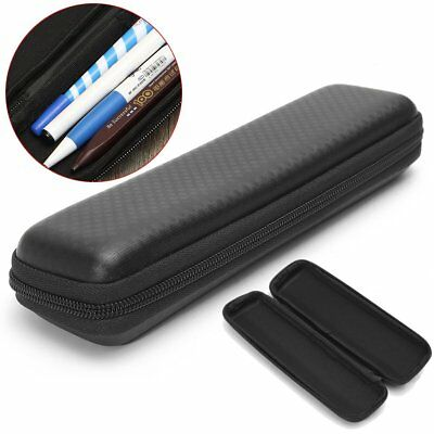 Black Hard Shell Pen Pencil Case Zipped Holder Pouch Bag Portable Makeup Box
