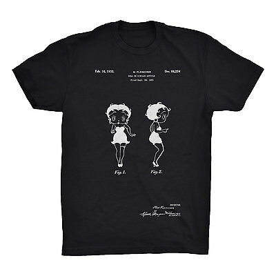 Betty Boop Patent T-Shirt.Premium Cotton Tee Comfy on Black White or Gray. NEW