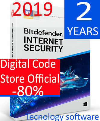 Bitdefender Internet Security 2019 1 PC 2 Years  Digital Code Fast delivery