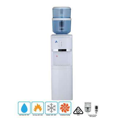 New White Free Standing Awesome Water Filter Cooler Purifier Dispenser Hot Cold