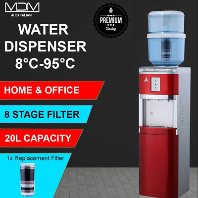 Water Cooler Floor Standing Chiller purifier hot cold Ambient Aimex Red