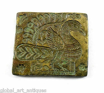 Vintage Beautiful Designs Bronze peacock figure Jewellery Dye/Seal/Stamp.G46-161
