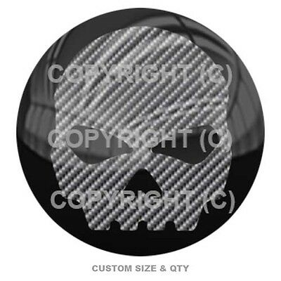Premium Glossy Round 3D Epoxy Domed Decal Indoor Outdoor Grey Pinstripe B S159