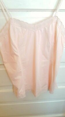 "Vintage Lacy Sheer Peach Camisole * Medium * 36"" Bust * Very Pretty"