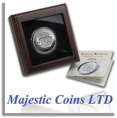 2013 Somalia High Relief African Elephant 1 Oz .999 Silver Coin GOP Certificate