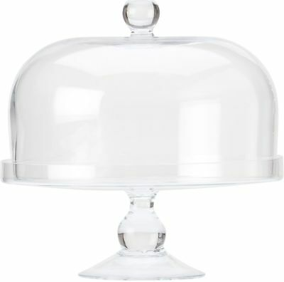 Maxwell & Williams Diamante Glass Cake Stand With Dome - 25cm Free Shipping!
