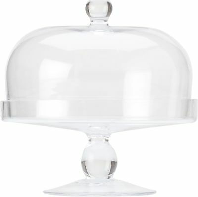 Maxwell & Williams Diamante Glass Cake Stand With Dome - 20cm