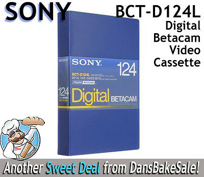 Sony BCT-D124L 124 Minute Digital Betacam Video Cassette in Album Case NEW