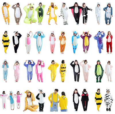 Kids Adult  Animal Onesi Unisex Kigurumi Cosplay Costume Pyjamas Sleepwear Suit