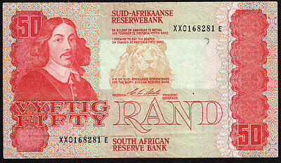 South Africa: ND (1990) 50 Rand Banknote XX-Replacement  P-122b * VF *