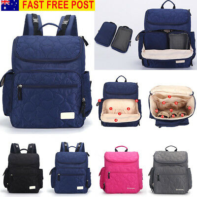 AU Waterproof Nylon Backpack Baby Nappy Diaper Mummy Changing Bag Handbag Travel