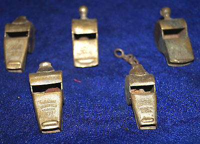 antique brass horse police man 5  whistle make sound