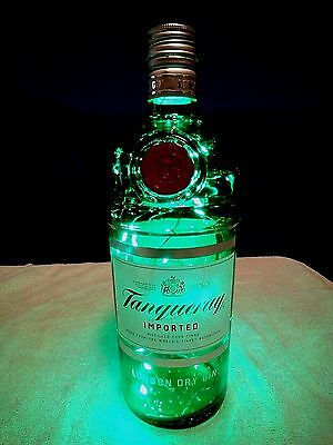 'tanqueray Gin' Led Lighted Bottle/lamp~Subtle Liquor Lights & More~Free Ship