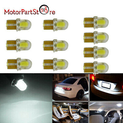 10pcs T10 194 168 W5W 8 LED SMD Canbus Silica Bright White License Ampoule