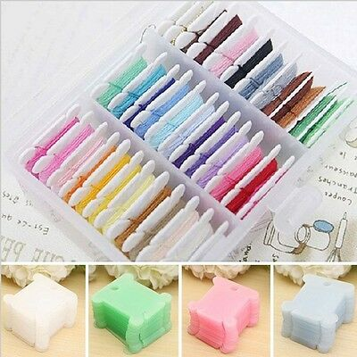 100Pcs Embroidery Floss Plastic Craft Thread Bobbin Cross Stitch Storage Holder