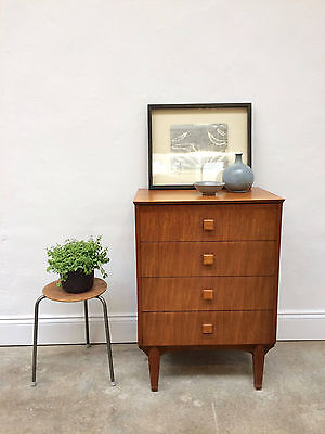Vintage 1970s Jentique Teak Chest of Drawers. Retro Danish Mid Century. DELIVERY