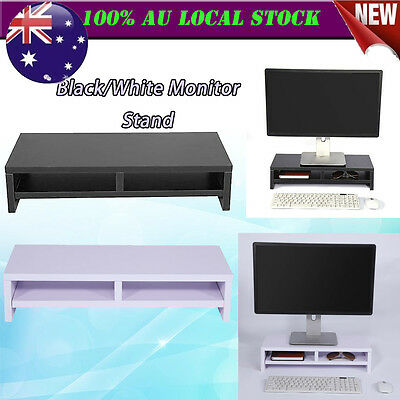 Desktop Monitor Stand LCD TV Laptop Rack Computer Screen Riser Shelf AU Post New