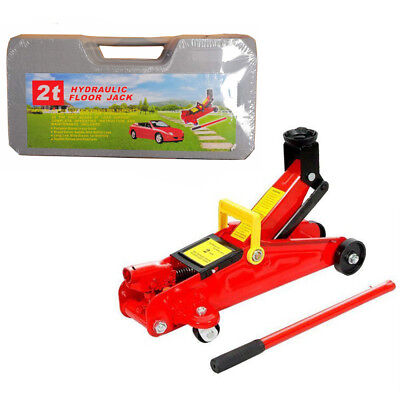 2 Ton Hydraulic Trolley Floor Jack Car Jack 2000kgs CE Approved With Case UK