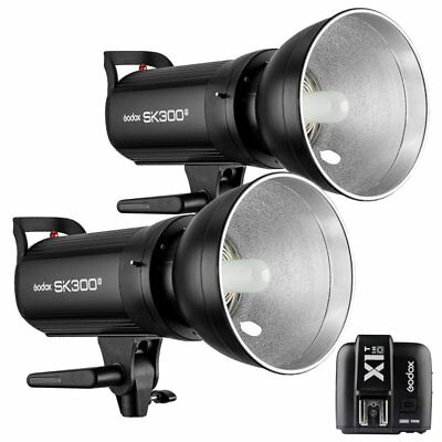 2X Godox SK300II 300W 2.4G Flash Light Head + X1T-O Transmitter for Olympus 220V