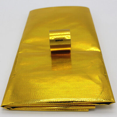 Self Adhesive Reflective Gold High Temperature Heat Shield Wrap Tape Cloth 450C