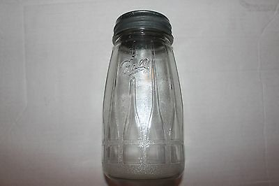Rare Vintage NOS Clear Ball 1 qt Tapered, Heavy Embossed, Mason Jar, NOS LID