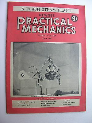RAM-JET HELICOPTER LITTLE HENRY July 1948 NEWNES PRACTICAL MECHANICS Flash Steam