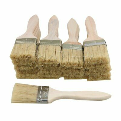 20PCS 17.5x4.5CM Stain Varnish Chip Brush Tool with Thin Wood Handle