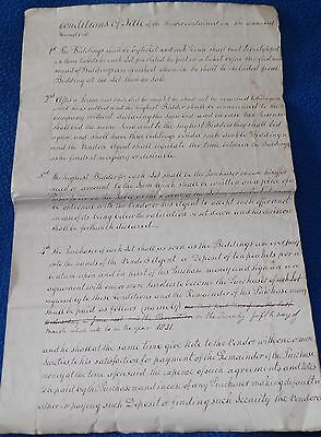 Document Related to George Okell of Northwick Chester County, 1829