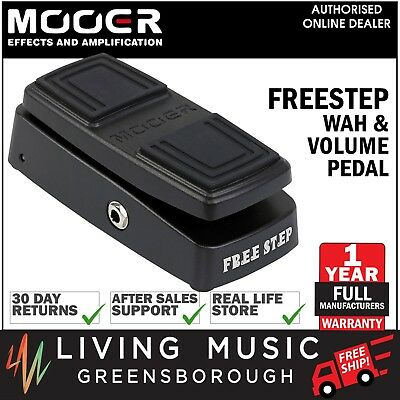 NEW MOOER FREE STEP Wah and Volume Guitar Effects Pedal