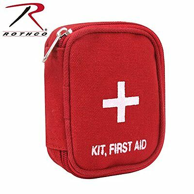 Rothco Military Zipper First Aid Kit Pouch, Red
