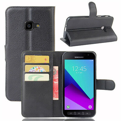 For Samsung Galaxy Xcover 4 Luxury Wallet Card Case Stand Flip PU Leather Cover
