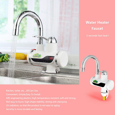 TAPCET Rotatable Electric Instant Heater Faucet Mixer Tap Fast Water Heating Hot