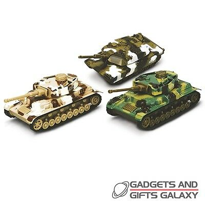 MILITARY TANK CAMO ARMY DIECAST SOUND PULL BACK KIDS TOY Gifts games & gadgets